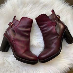 Authentic Purple Leather Acne boots | size: 37